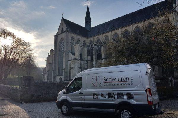 Altenberger Dom – letzte Mauerarbeiten